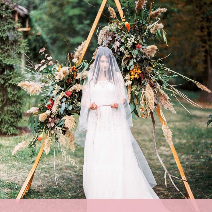 Горячий тренд: треугольные арки для свадьбы – Oh My Wed Day