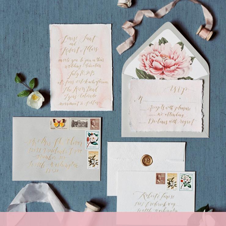 Завершающий штрих: конверты для свадебных приглашений – Oh My Wed Day