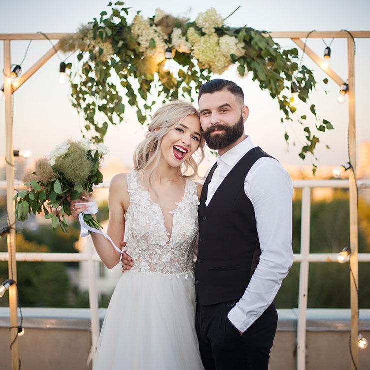 Ближе к звездам: стильная свадьба на крыше – Oh My Wed Day