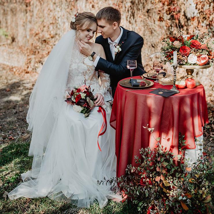 Все краски осени: свадебная прогулка Евгении и Максима – Oh My Wed Day