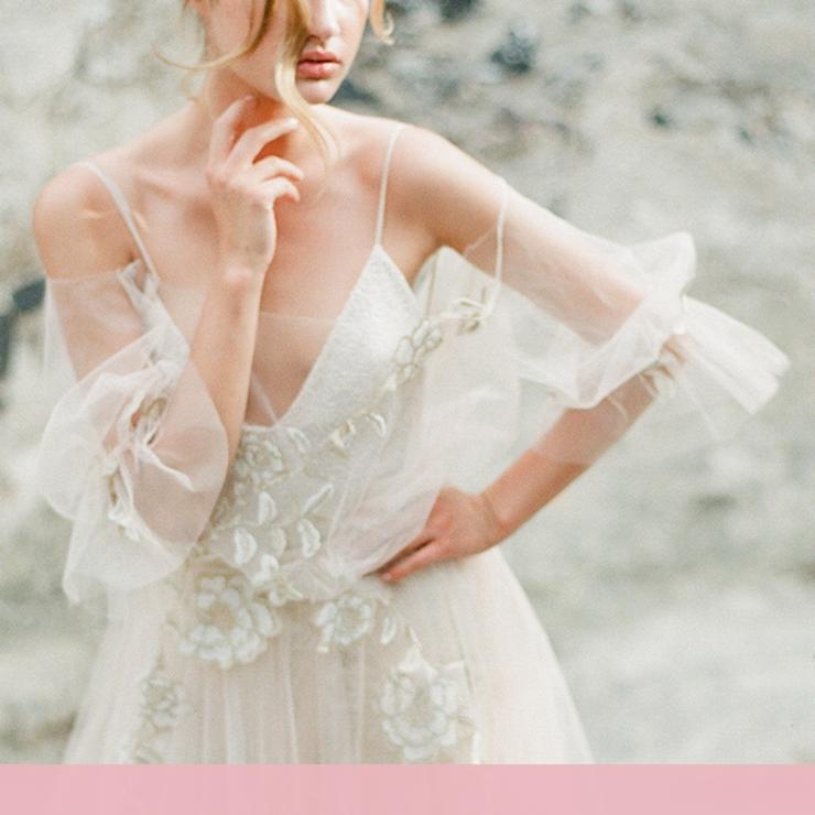 Тренд на нежность: свадебные платья с воздушными рукавами – Oh My Wed Day