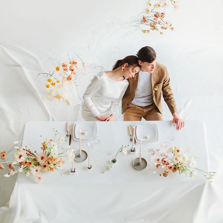 Весільне святкування Анни та Ніколаса в мінімалістичному стилі – Oh My Wed Day