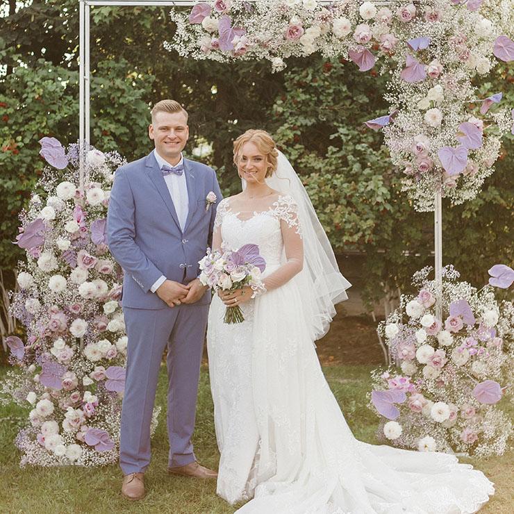 Лиловая свадьба Александры и Архипа – Oh My Wed Day